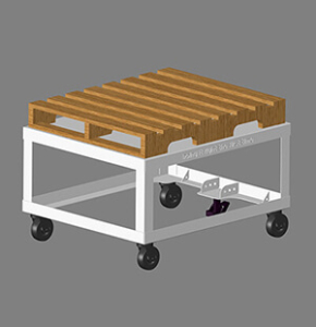 Rolling Pallet Cart-Lean Maufacturing
