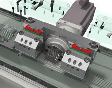 Rack and Pinion X-Axis
