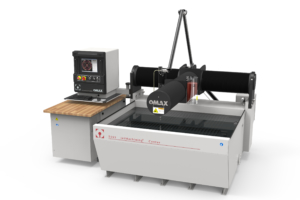 OMAX 5555 with pump waterjet system